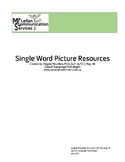 Single Word Picture Resource | Word Finding | Phonological Awareness | Syllables