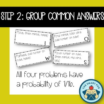 Probability Activity, Single and Compound Events- Word Scramble