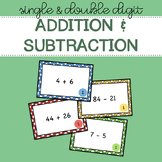 Single and Double Digit Addition and Subtraction