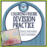Single and Double Digit Division Differentiated Practice Coloring Activity