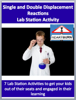 Single and Double Displacement Reactions - 7 Engaging Lab Station Activities