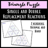 Single and Double Replacement Reactions Triangle Puzzles