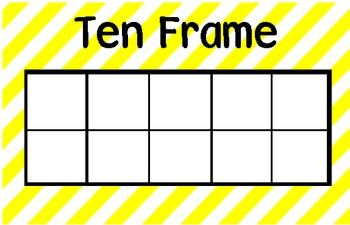 Single and Double Ten Frame Mats