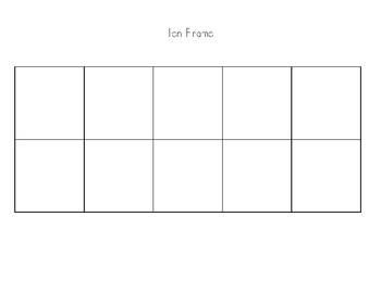 Ten Frame Template Teaching Resources Teachers Pay Teachers