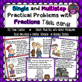 Single and Multistep Practical Problems with Fractions Task Cards
