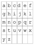 Single letter flash cards - various fonts