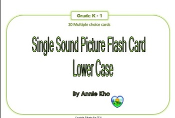 Single sound lower case picture flash card