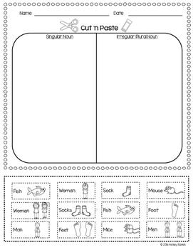 Singular & Irregular Plural Nouns