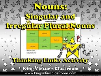 Singular Nouns and Plural Nouns - Irregular Nouns - Thinking Links - King Virtue