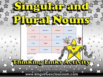 Singular Nouns and Plural Nouns Thinking Links Activity #2 - King Virtue