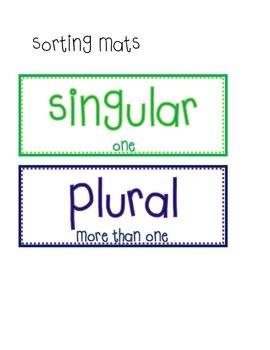 Singular/Plural Noun Sort FREEBIE