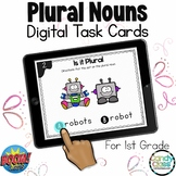 Singular & Plural Nouns Activities: 1st Grade BOOM Cards Distance Learning