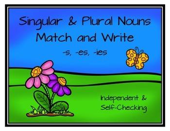 Singular & Plural Nouns Match and Write