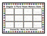 Singular & Plural Nouns Memory Game