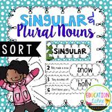 Winter Singular & Plural Nouns Sort