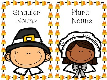 Singular & Plural Nouns- Thanksgiving Theme