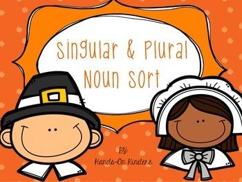Singular & Plural Nouns- Thanksgiving Theme