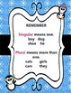 Singular & Plural Nouns and Verbs Sentence Sort - Snowflake Fun