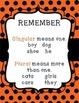 Singular & Plural Nouns and Verbs Sentence Sort for Fall