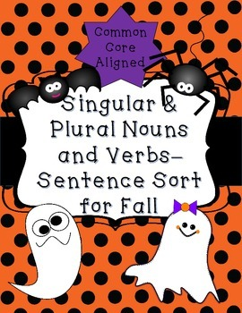Singular & Plural Nouns and Verbs Sentence Sort for Fall