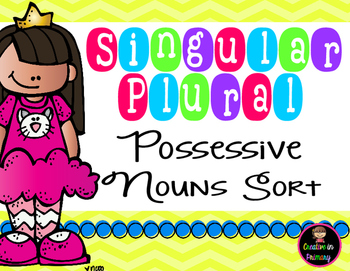 Singular Plural Possessive Noun Sort