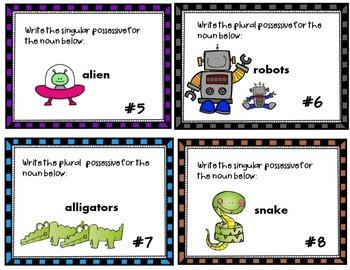 Singular & Plural Possessive Nouns Task Cards