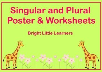 Singular & Plural Poster & Worksheets
