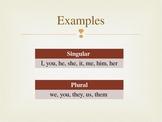 Singular & Plural Pronouns PPT