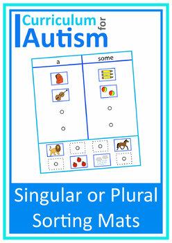 Singular Plural Sort Autism Special Education Speech