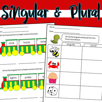 Singular & Plural Worksheets