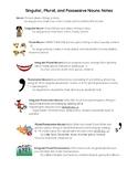 Singular, Plural, and Possessive Nouns- Notes