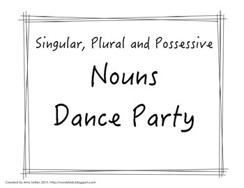 Singular, Plural and Possessive Nouns Task Cards