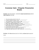 Singular Possessive Noun Quiz
