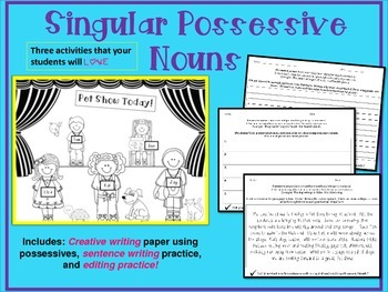 Singular Possessive Nouns: Pet Shop Writing