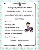 Singular Possessive Nouns Practice Packet