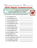 Singular Possessive Nouns - Winter Theme