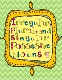 Singular Possessive, Plural, and Irregular Plural Noun Lesson Activity Packet!