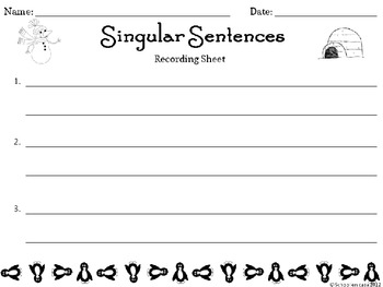 Singular Sentences: Winter Edition