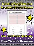 Singular and Irregular Plural Nouns Cut and Paste Activity #2 - King Virtue