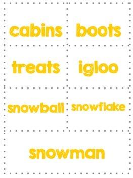 Singular and Plura Nouns-Winter Words