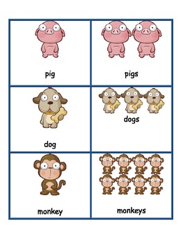 Singular and Plural Animal Sort