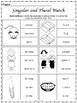 Singular and Plural Bundle- Word Sort, Rules Banner, Worksheets and more...