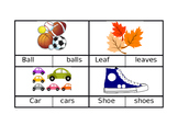 Singular and Plural Clip Cards (Editable)