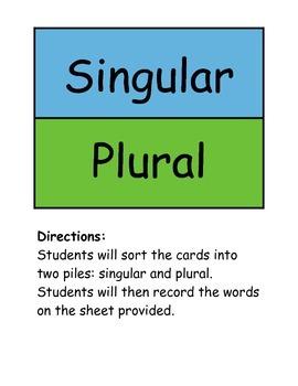 Singular and Plural Fun
