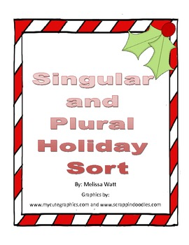 Singular and Plural Holiday Sort