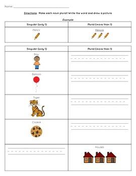 Singular and Plural Noun Activity