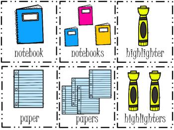 Singular and Plural Noun Center