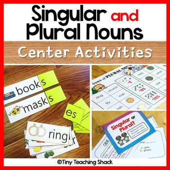 Singular And Plural Noun Center Activities By Tiny