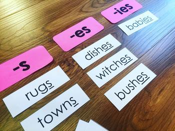 Singular and Plural Noun Center Activities
