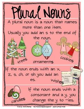 Singular and Plural Noun Christmas Fill that Stocking Game
